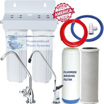 Dual Under Sink Fluoride/Arsenic/Chlorine/Voc's Filter System Choice Of Faucets - $62.95