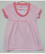 Girls Bailey Point Pink White Stripe Short Slee... - $4.00