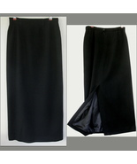Talbots Long black pencil skirt Wool 4 Back sli... - $39.99