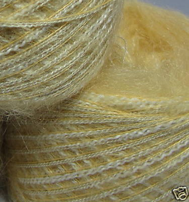njy ball combo yarn set lot angora silk lemon peels