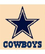 Latch Hook Rug Pattern Chart: DALLAS COWBOYS -E... - $5.75