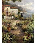 Villa's Garden Path by Peter Bell Mediterranean... - $57.82