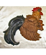 French Art Nouveau Design Rooster Wall Hanging - $36.99