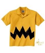Small Retro NEW Charlie Yellow Zig Zag kids boy... - $14.99