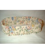 Lot 2 Longaberger Flowered Basket Ruffle Floral - $9.99