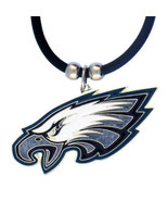 Philadelphia Eagles Black Rubber Cord Necklace - $11.00