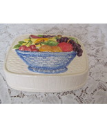 Basket of Fruit Ceramic Jello Decorative Mold C... - $8.00
