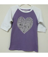 Girls Old Navy Purple White 3 quarter Sleeve To... - $4.00