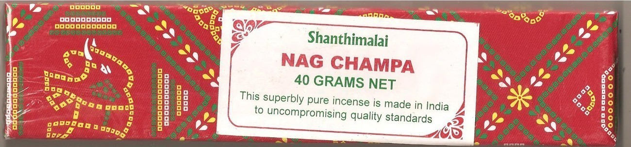 Shanthimalai - Red Nag Champa Incense Sticks 40 gram