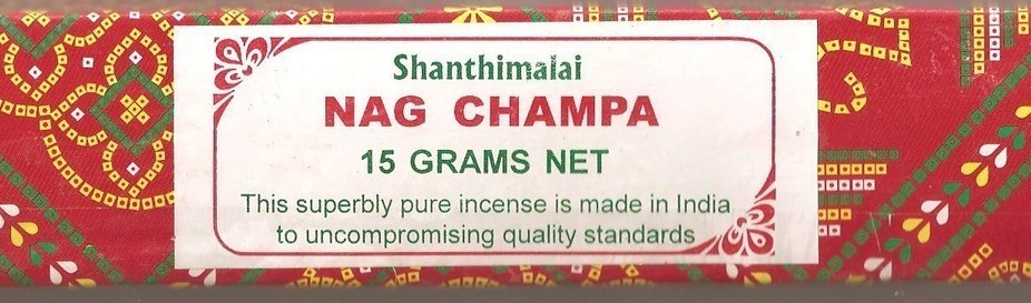 Shanthimalai - Red Nag Champa Incense Sticks 15 gram