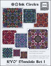 Ryo Mandala Set 1 cross stitch chart Ink Circles  - $13.50
