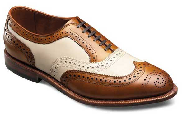 handmade brown and white shoes s brogue leather shoes
