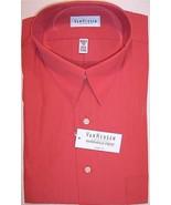NWT Van Heusen Mens Orange Red (Tomato) Wrinkle... - $22.99