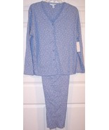 NWT Charter Club 100% Cotton Blue Floral Knit P... - $18.99
