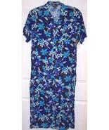 Notations Woman Long Tropical Blue Floral Dress... - $14.99