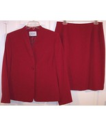 Le Suit Petite Dark Red Fully Lined Suit, Missi... - $21.99