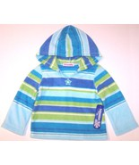 NWT Just Friends Girl's Blue & Green Striped Fl... - $8.99