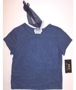 NWT Amy Byer SS Soft Blue Top w/ Headband, XL (16) - $5.99