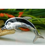 Vintage Dolphin Pin Brooch Taxco Mexico 925 Ste... - $27.95