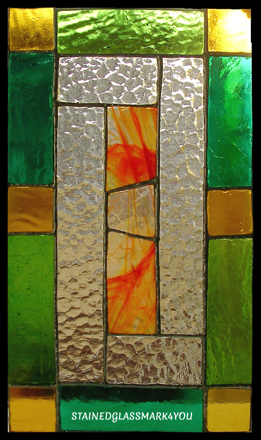 Colorful decorative panel suncatcher stained glass panel for Decorative stained glass windows