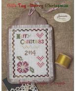 Merry Christmas Gift Tag cross stitch chart Jea... - $5.40
