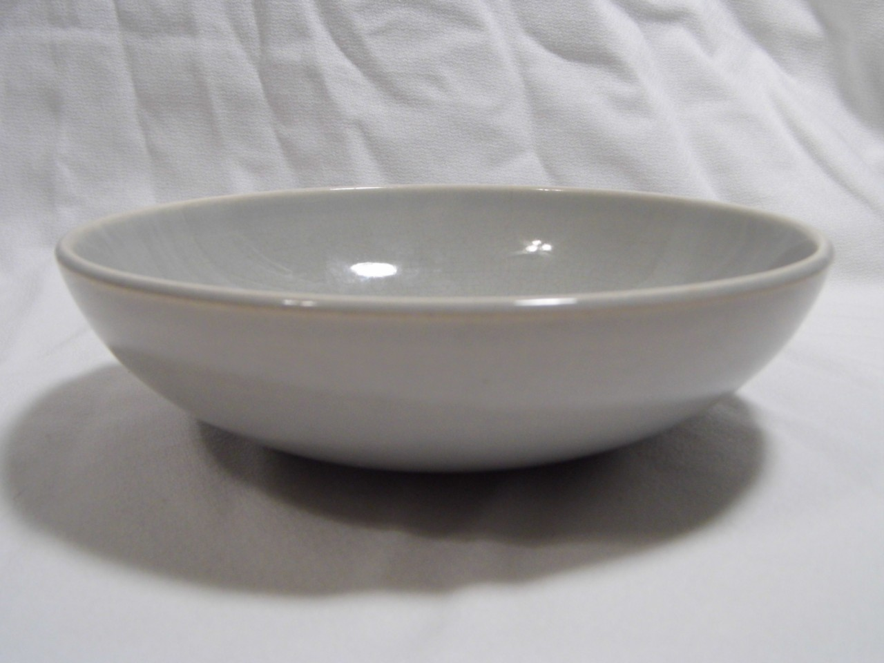 "vintage UNIVERSAL POTTERIES CO grey china BALLARINA pattern 7"" serving BOWL"
