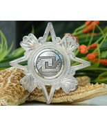 Vintage Mexico Sterling Silver 925 Star Brooch ... - $34.95