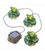 Solar Power Lights Frog Statues - $23.00