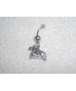 Equestrian Horse Jumping Fence Charm Navel Bell... - $6.95