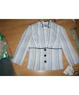 Ladies Speechless Suit Jacket Blazer Black Whit... - $14.99