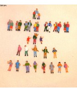 24 Pieces HO Scale Painted People Train - 34 Fi... - $11.99
