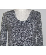 Charter Club Blouse Black And White Size L NWT - $19.00