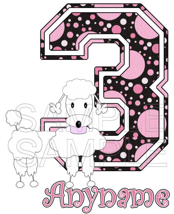 Poodle Personalized Birthday T-Shirt 04