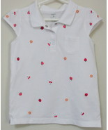 Girls Carters White Cap Sleeve Top Size 5 - $4.00