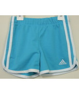 Girls Adidas Aqua with White Trim Shorts Size 4 - $4.00