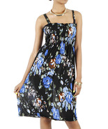 Silk Blend Splashy Fun Sun Dress  med/lrg - $14.00