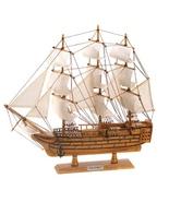 lifelike model schooner HMS Victory collectible  - $34.69