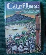 Old Book 1957 HCDJ Novel Caribee Thelma Strabel - $5.00