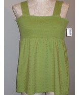 Style & Co Smock Avocado Green Cotton Size XL NWT - $22.00