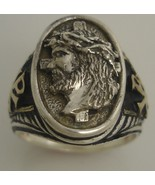 Jesus Christ Prince of Peace Gents ring Sterlin... - $103.95