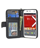 Navor Folio Wallet Leather Case for Motorola Mo... - $15.50