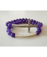 Two piece sideways cross and bar stretch bracel... - $13.29