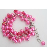 Fuchsia Jewelry Stunning Chunky Bracelet Weddin... - $14.68