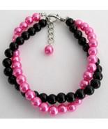 Black And Fuchsia Pearls Jewelry Twisted Bracel... - $14.03
