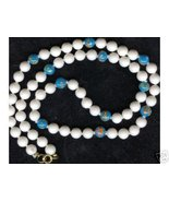 Hand Painted Glass Vintage Beaded Necklace  - $10.99