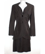 Nic Janik Gray Skirt Suit Sz 34 36 Wool Fitted ... - $34.72