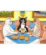 ACEO art print Cat #357 Coffee Break,fantasy by... - $4.99
