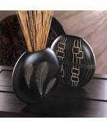 2 Decorative Vases Black Wood - $32.00