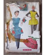Simplicity 4492 Womens Apron Pattern Medium - C... - $9.99