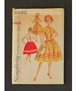 Simplicity UNCUT #3430 Pattern 1950s Dress/Jack... - $9.95